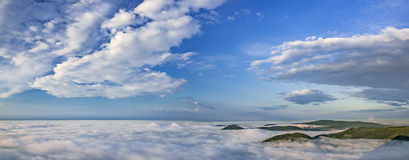 Panorama from the mountain of Mile�ovka Stock Photo