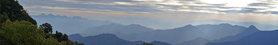 Panorama Mountain in Northern Thailand. Landscape royalty free stock photos
