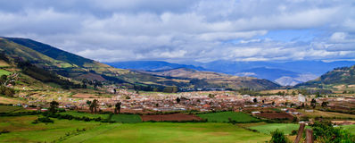 Panorama of mountain range in the andes highlands Royalty Free Stock Photos