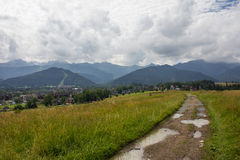 Panorama of the mountain Stock Photography