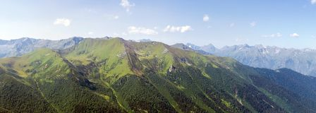 Panorama mountain range. Panorama in high mountain range in the Alps Stock Images