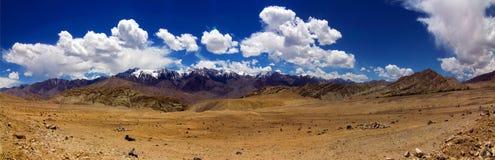 Panorama of Mountain Range in Ladakh Royalty Free Stock Photo