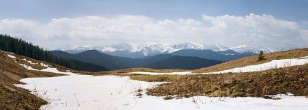 Panorama of the mountain range Stock Image