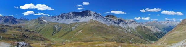 Panorama of Mountain Ridge Stock Photo