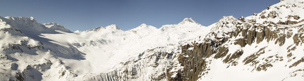 A panorama of a mountain ridge, Caucasus Royalty Free Stock Photography