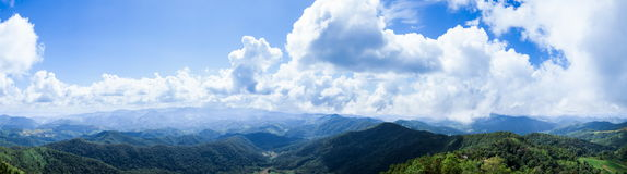 Panorama mountain and sky. Stock Photo
