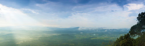 Panorama mountain and sky in evening. Royalty Free Stock Photo