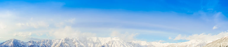 .Panorama of Mountain Snow  Landscape with Blue Sky ,Japan Royalty Free Stock Photos