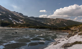 Panorama mountain spring landscape. Tatry.  royalty free stock photo