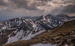 Panorama mountain spring landscape. Tatry.  stock image