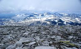 Panorama from mountain storronden Royalty Free Stock Photography