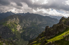 Panorama mountain summer landscape. Tatry.  royalty free stock images