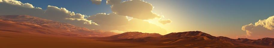 Panorama mountain sunset, sunrise. Baner. Royalty Free Stock Photo