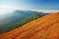 Panorama mountain sunset. In Thailand for background design stock photos