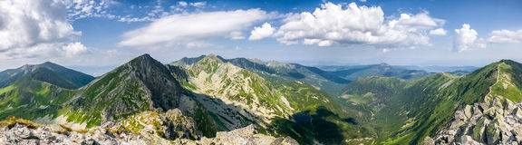 Panorama from the mountain top - West Tatras, Slov Royalty Free Stock Image