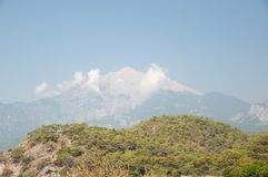 Panorama of mountain in Turkey Royalty Free Stock Images
