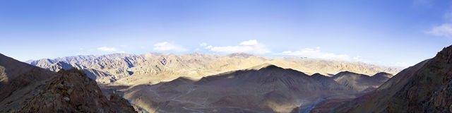 Panorama of a mountain valley Royalty Free Stock Photo