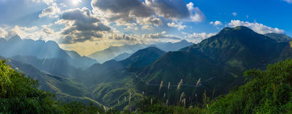 Panorama mountain view stock photography