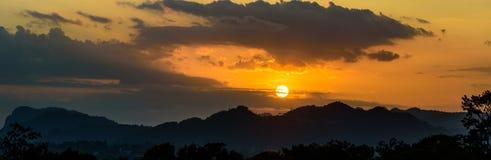 Panorama Mountain view. Royalty Free Stock Image