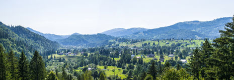 Panorama of a mountain village royalty free stock images