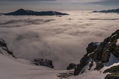 Panorama mountain winter landscape. Tatry.  royalty free stock images