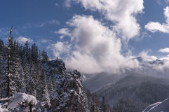 Panorama mountain winter landscape. Tatry.  stock images