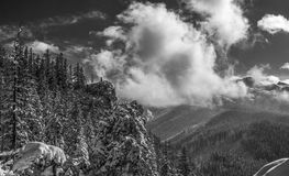 Panorama mountain winter landscape. Tatry.  stock photography