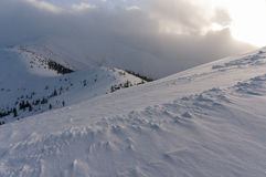 Panorama mountain winter landscape. Tatry.  royalty free stock image