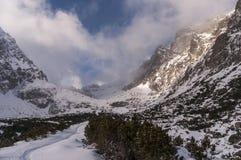 Panorama mountain winter landscape. Tatry. Slovakia.  stock photos