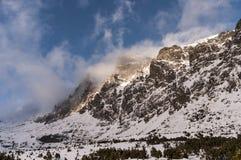 Panorama mountain winter landscape. Tatry. Slovakia.  royalty free stock photos