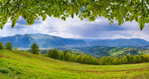 Panorama of the mountains Stock Photo