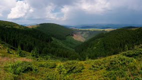 Panorama of mountains Royalty Free Stock Photography