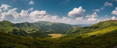 Panorama of mountains Stock Photos