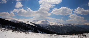 Panorama of mountains. Royalty Free Stock Photography