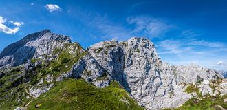 Panorama of the mountains in the Alps, Germany royalty free stock photography