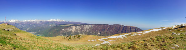 Panorama of the mountains with blue sky Stock Photo