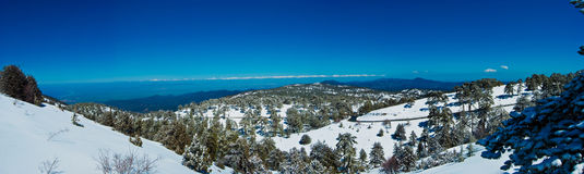 Panorama of the mountains of Cyprus Royalty Free Stock Photo