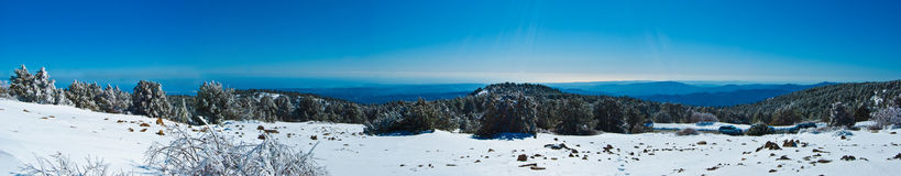 Panorama of the mountains of Cyprus Stock Image