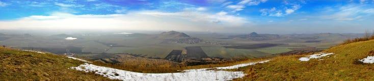 Panorama of mountains Royalty Free Stock Photos