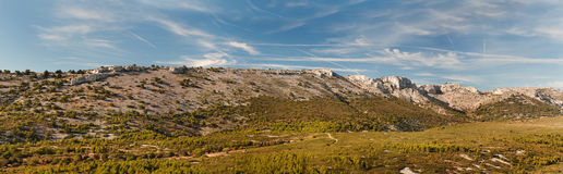 Panorama of mountains in France Stock Photography