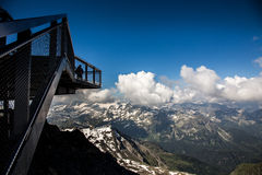 Panorama. Mountains panorama in the high Alps Austria stock images