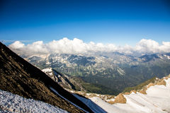 Panorama. Mountains panorama in the high Alps Austria royalty free stock images