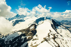 Panorama. Mountains panorama in the high Alps Austria stock photography