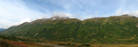 Panorama of Mountains on Kenai Peninsula, Alaska Stock Image