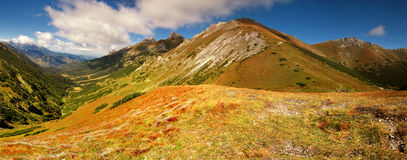 Panorama in Mountains and knolls royalty free stock photos