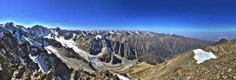 Panorama of mountains. Panorama of Kyrgyzstan mountains near Bishkek Royalty Free Stock Photos