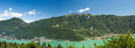 Panorama of mountains and lake Royalty Free Stock Photography