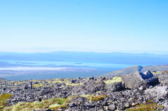 Panorama of mountains and lakes of the Kola Peninsula Stock Photo