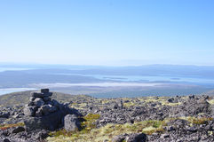 Panorama of mountains and lakes of the Kola Peninsula Royalty Free Stock Image
