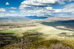 Panorama of mountains from Mesa Verde National Park, Colorado Stock Image